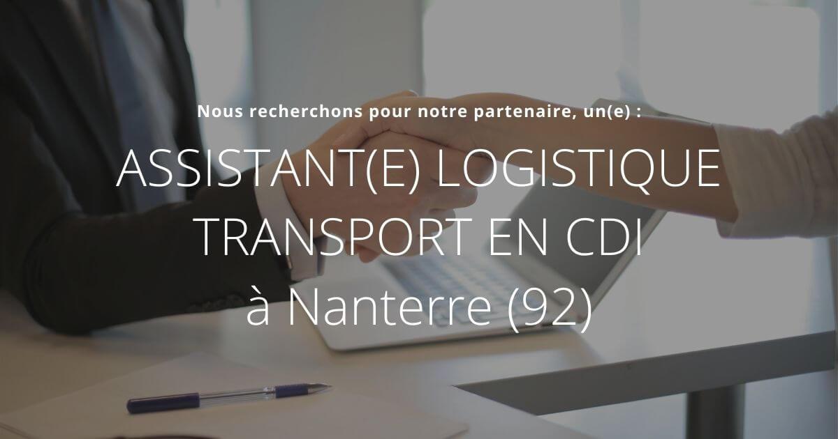 Assistant Logistique transport offre d'emploi